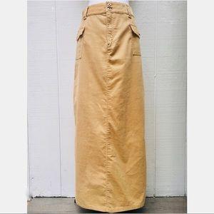 Vintage Corduroy Maxi Skirt By Liz Claiborne Sz 10